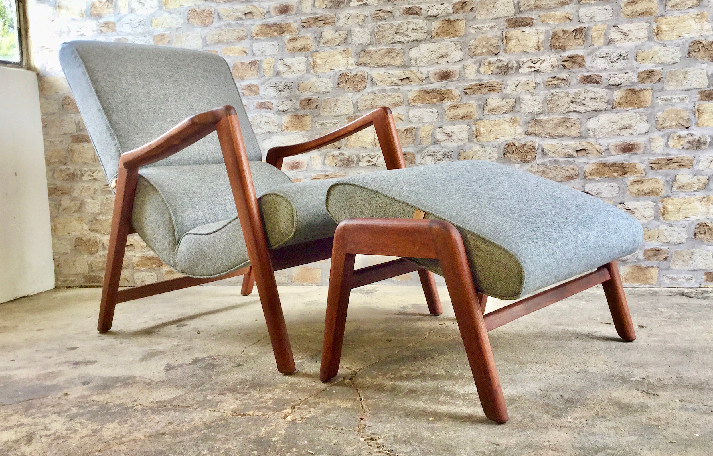 G Plan Siesta Chair and Footstool