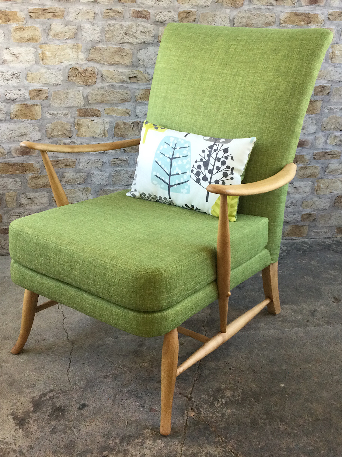 Mid Century Ercol Chair in Lime Green